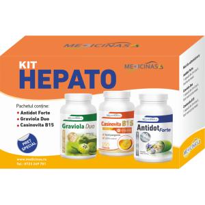 KIT HEPATO - pentru susținerea funcțiilor hepatice și protecția ficatului