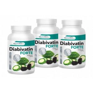 Diabivatin Forte - Pachet 3 luni + GRATUIT Cartea Alimentația Antidiabet