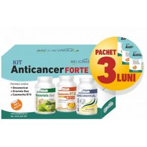 """3 x KIT Anticancer FORTE - împotriva cancerului cu metastaze, GRATUIT cartea """"Ce mănânci ca să combați cancerul"""""""