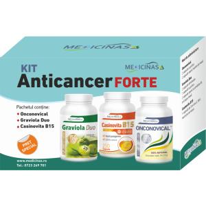 """KIT Anticancer FORTE - împotriva cancerului cu metastaze, GRATUIT cartea """"Ce mănânci ca să combați cancerul"""""""