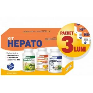 3 x KIT HEPATO - pentru susținerea funcțiilor hepatice și protecția ficatului