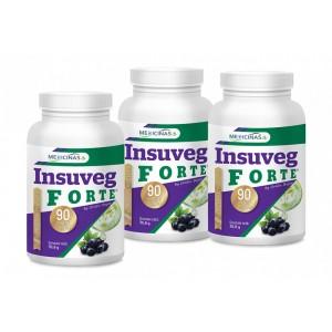 Insuveg FORTE - Pachet 3 luni + cartea Alimentația antidiabet GRATUIT