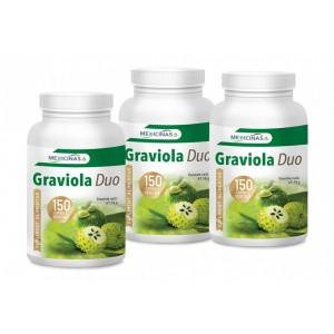 Graviola Duo - Pachet 3 luni + GRATUIT Cartea Alimentația anticancer