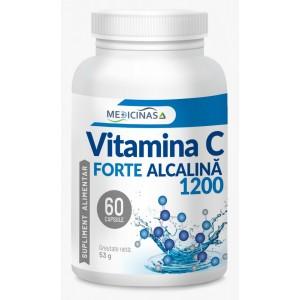 Vitamina C Forte Alcalină 1200mg - Cea mai puternică vitamină C de la Medicinas, 60cps.