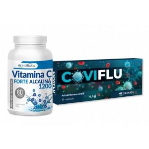 COVIFLU + Vitamina C Forte Alcalină 1200mg